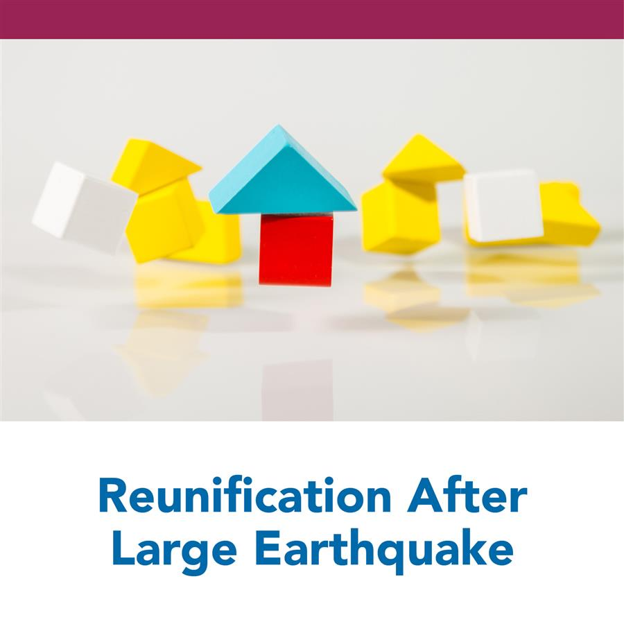 Reunification After Large Earthquake