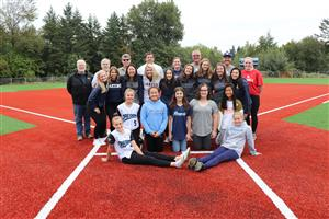 Students, coaches, administrators, bond team members on new softball field