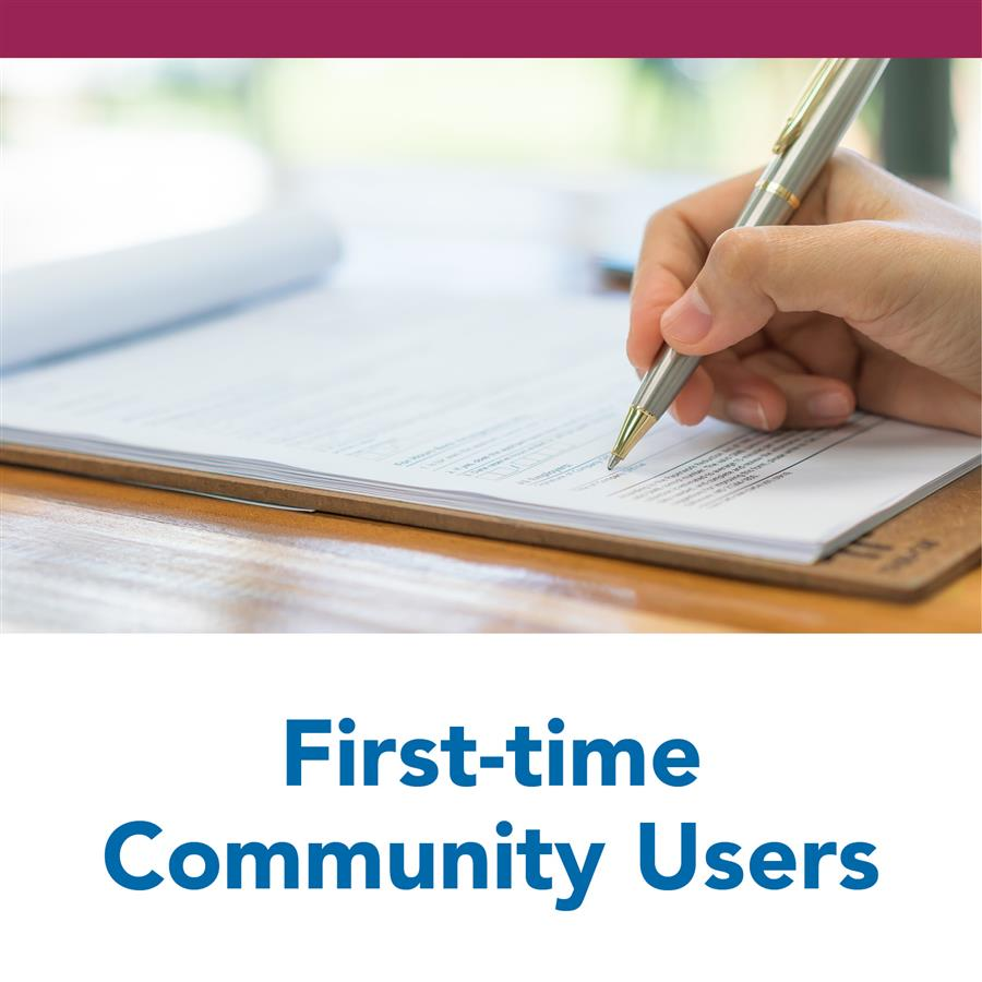 First-time Community Users