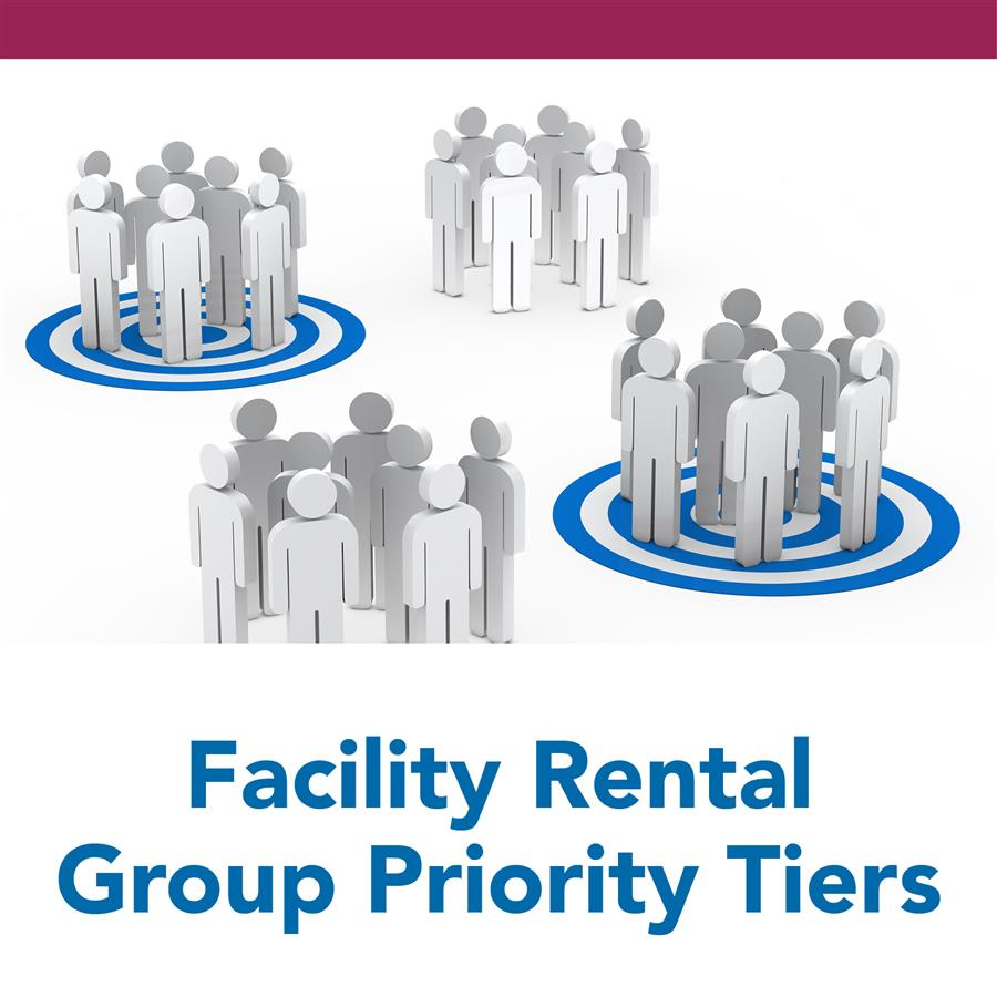 Facility Rental Group Priority Tiers